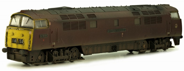 Dapol 2D-003-009 Class 52 D1045 'Western Viscount' BR maroon with full yellow ends (weathered)
