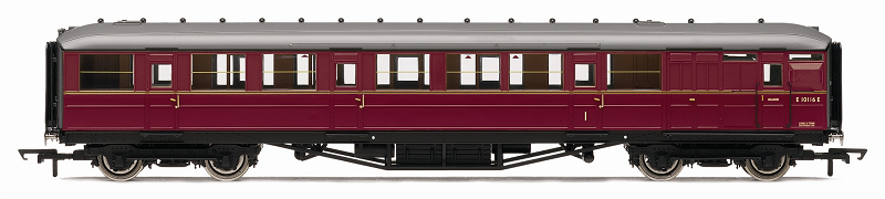 Hornby R4566 Ex-LNER Gresley 61ft 6in Brake Corr Comp Coach BR Maroon