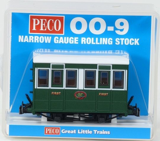 Peco GR-505 Talyllyn Railway [GVT] 4 Wheeled Coach With Buffers