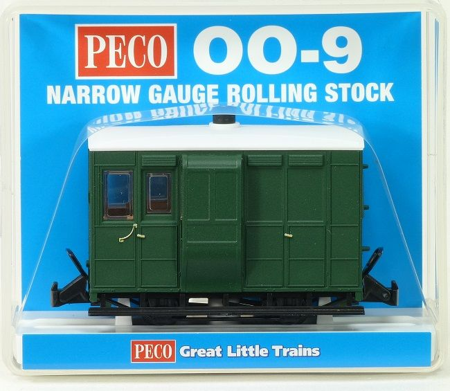 Peco GR-530UG Glyn Valley Tramway Brake Coach Green Unlettered