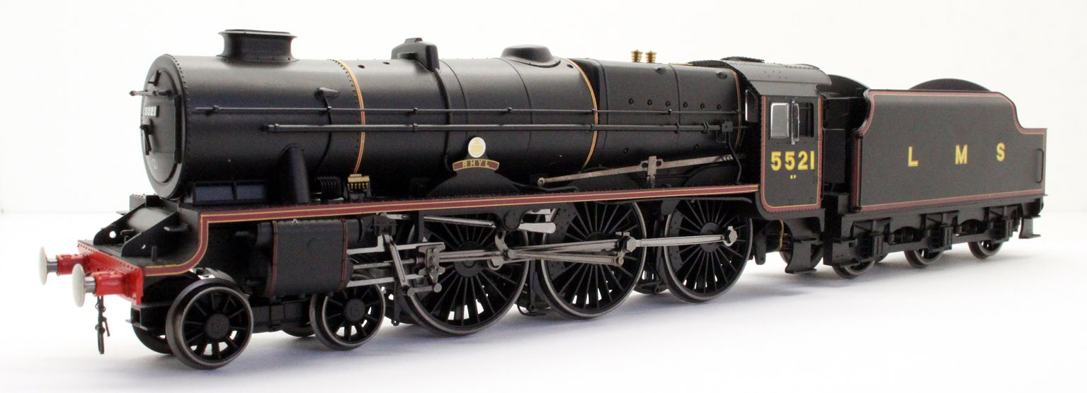 "Hornby R3614 Patriot Class 4-6-0 5521 ""Rhyl"" LMS Lined Black"