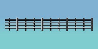 Ratio 425 Lineside Fencing, Black (4 bar)