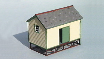 Wills SS63 Goods Yard Store, Timber Built Type